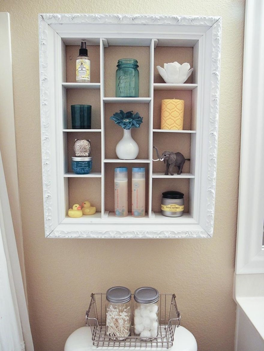 Shadow box from picture frame Precocious DIY Ideas To Repurpose Old Picture Frames That Truly Functional And Inexpensive