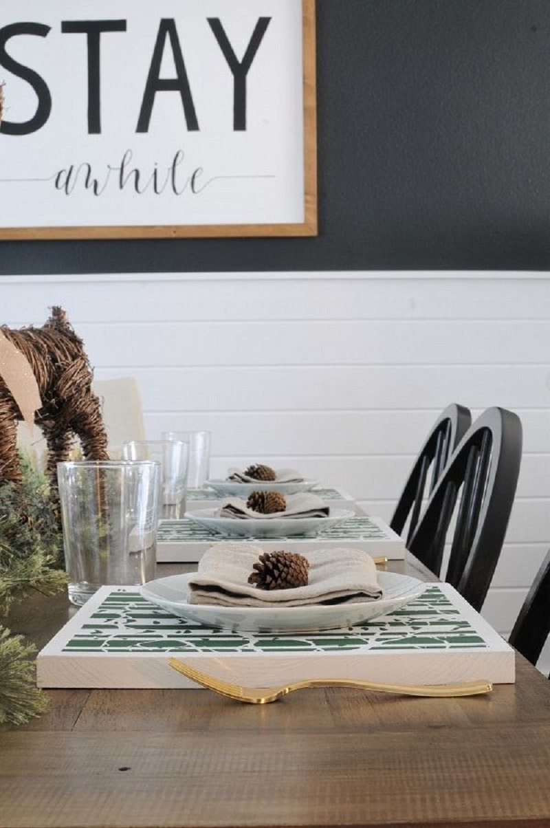 Wooden placemats DIY Winsome Placemats For The Perfect Table Setting Presentation
