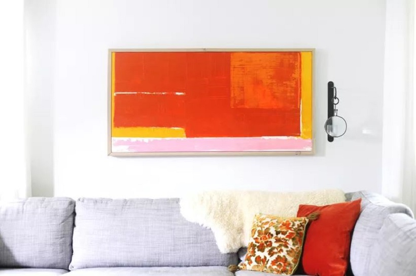 Abstract wall art with frame