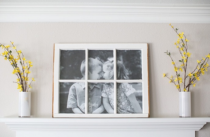 Antique window picture frame DIY Out Of The Box Ideas Repurposing Old Windows For Best Furniture