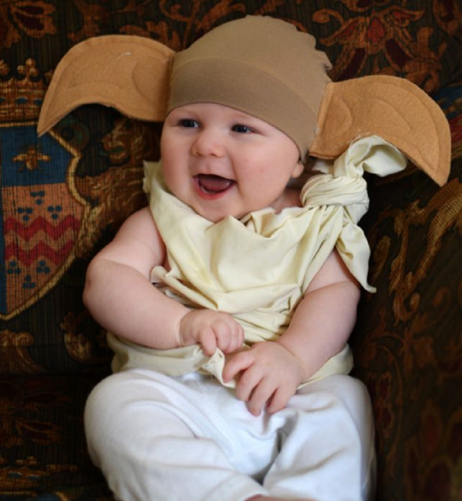 Baby dobby the elf costume DIY Insanely Cute Baby Halloween Costume Ideas You Can Make This Weekend