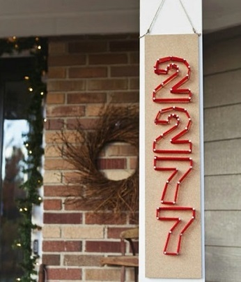 Cheap string and nail house numbers yes DIY Unique Ideas of House Number You Can Create To Advance Your Home Presentation