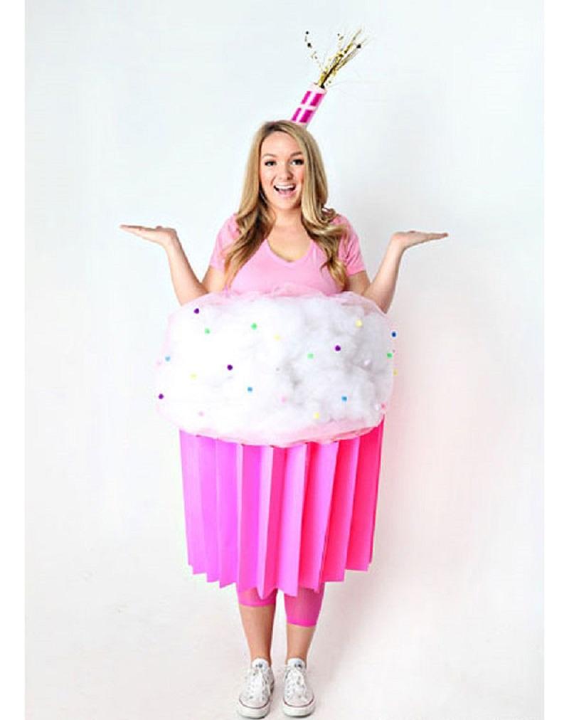 Cupcake costume DIY Tantalizing Food Costume Ideas To Have Tempting Halloween Celebration