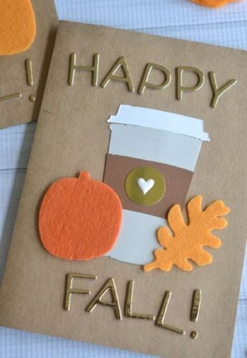 Cute fall card for your friend