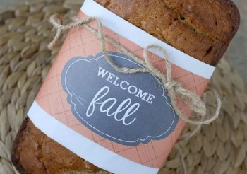 Diy fall paper bread