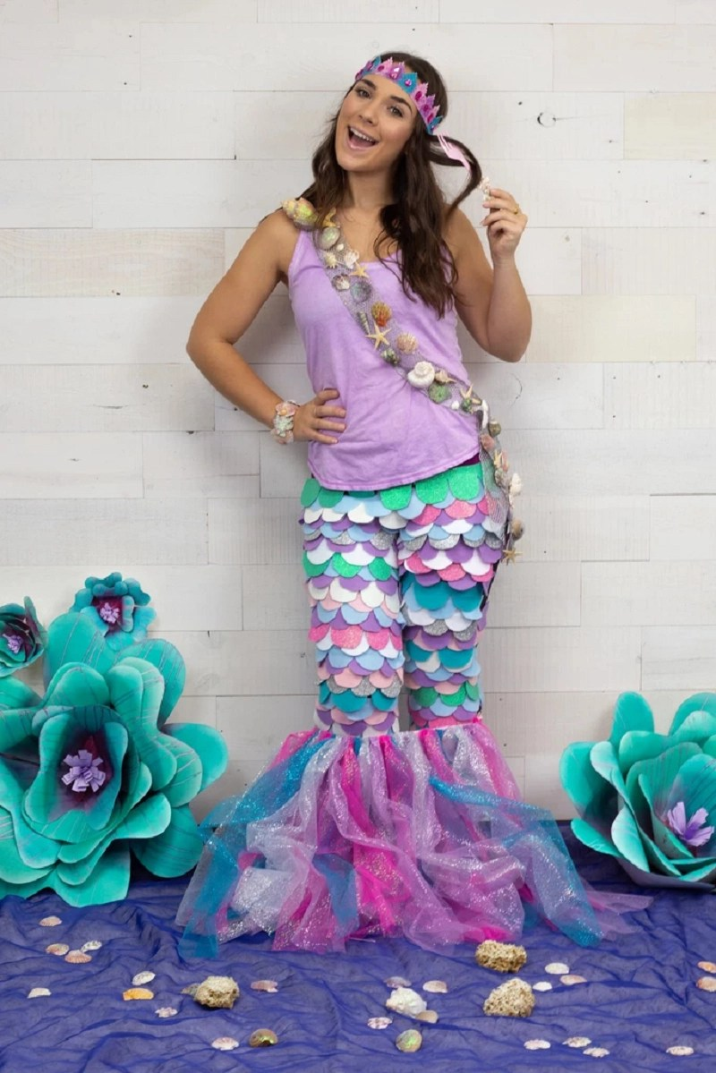 Diy felt mermaid costume DIY Mermaid Costume Ideas For Adults And Kids You Can Make This Halloween