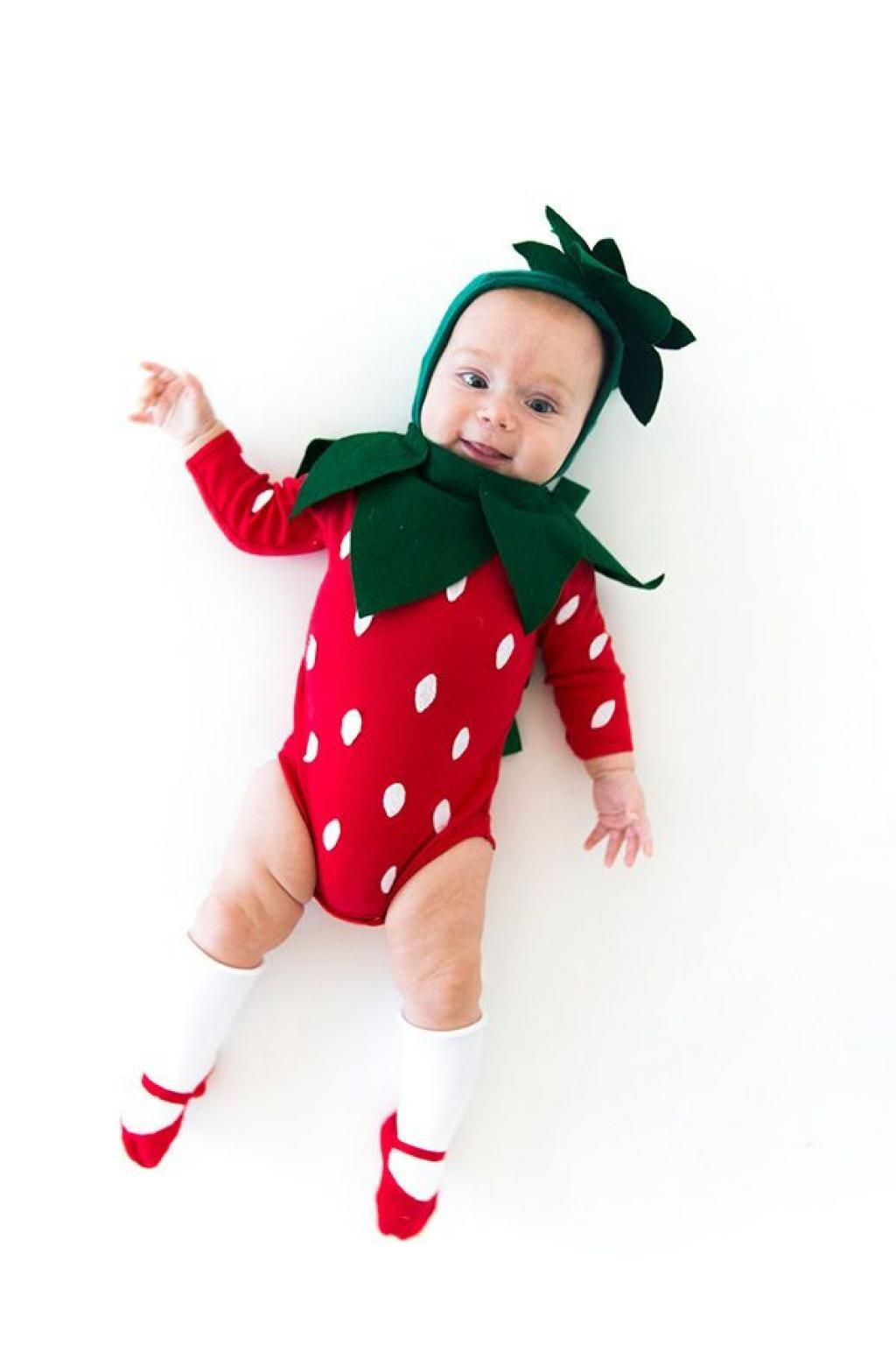 Diy strawberry halloween costume DIY Insanely Cute Baby Halloween Costume Ideas You Can Make This Weekend