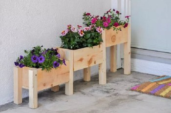 Diy tiered wooden box planter