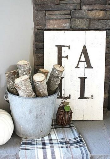 Rustic fall sign