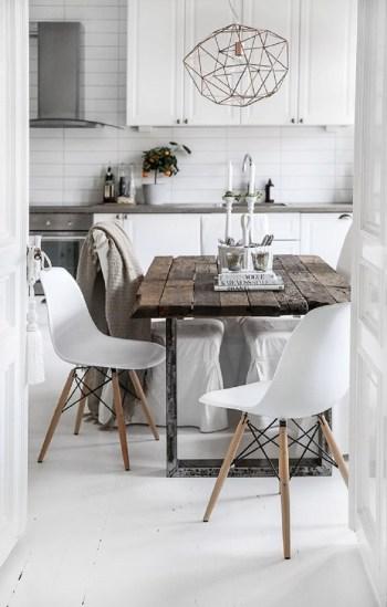 Scandinavian kitchen in white