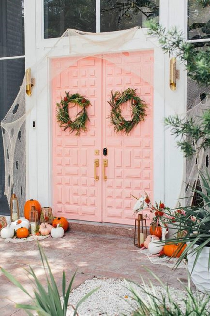 Spooky pink doors