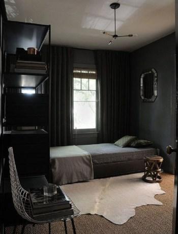 Dark vintage bedroom