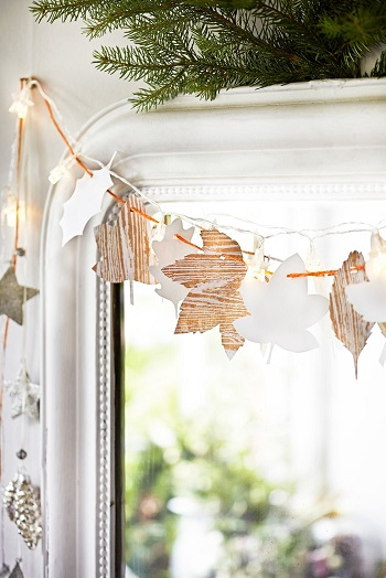 Bark-effect leaves Bewitching Winter Paper Craft Ideas To Let Your Home Full Of Christmas Joy