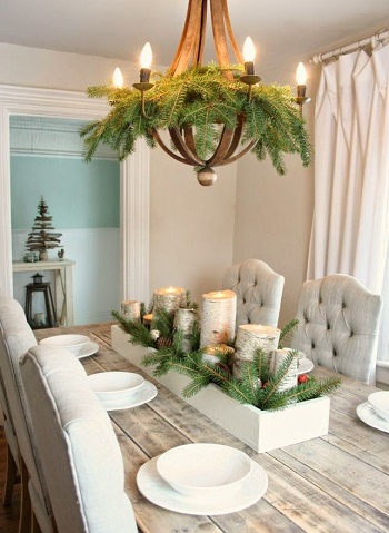 Birch box centerpiece DIY Special Type of Christmas Table Decoration To Welcome Your Guests