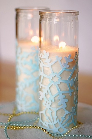 Cute winter votives DIY Winter Decoration To Transform Your Home Into Snowy Magic
