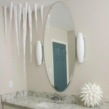 Diy paper icicles frozen ceiling