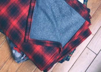 Diy plaid flannel throw