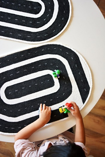 Diy racetrack mat for kids DIY Easy To Copy Christmas Gift Ideas For Your Kids That Also Affordable