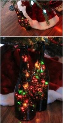 Diy wine bottle christmas light DIY Creative Wine Bottle Craft Ideas For Christmas Spirit That Anyone Will Adore
