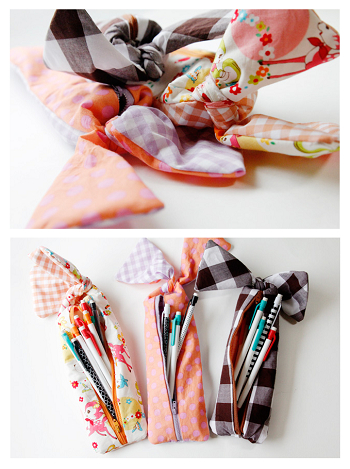 Easy sewn pencil pouches DIY Easy To Copy Christmas Gift Ideas For Your Kids That Also Affordable