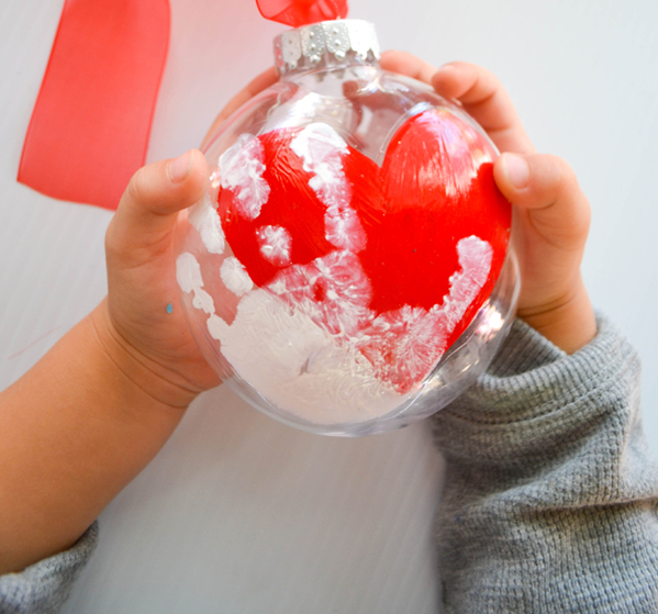 Handprint keepsake ornament Delightful Christmas Handprint Crafts That Anyone Will Keep Forever