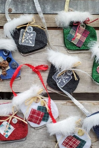 Ice skate ornaments DIY Festive Christmas Ornaments To Give You A Stunning Look In Every Home Corner