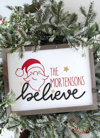 Personalized wood christmas sign DIY Charming Rustic Christmas Wood Projects For Your Amazing Home