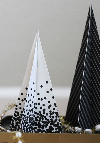 Printable black christmas trees DIY Unexpectedly Black Christmas Tree Ideas For A Twist On Tradition