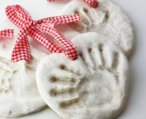 Salt dough handprint ornaments Delightful Christmas Handprint Crafts That Anyone Will Keep Forever