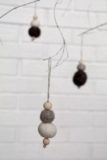Scandinavian felt ornaments