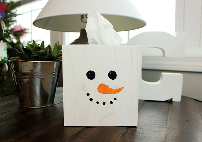 Snowman tissue box DIY Snowman Decoration Ideas To Serve Magic In Every Corner Of Your Home