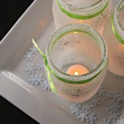 Snowy white christmas mason jar luminaries DIY Winter Decoration To Transform Your Home Into Snowy Magic