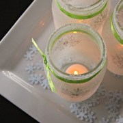 Snowy white christmas mason jar luminaries DIY Winter Decoration To Transform Your Home Into Snowy Magic