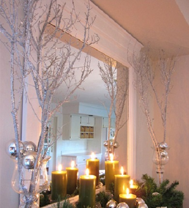 Sparkly branches DIY Winter Decoration To Transform Your Home Into Snowy Magic