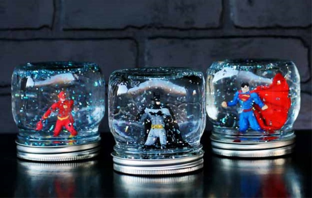 Superhero snow globe Joyful DIY Snow Globes That Will Make You Excited To Welcome This Christmas