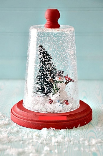 Unexpected snow globe Joyful DIY Snow Globes That Will Make You Excited To Welcome This Christmas