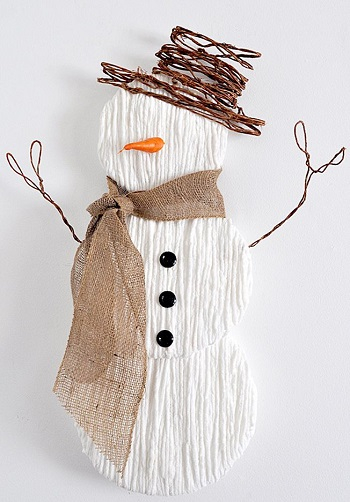 Yarn snowman wall art DIY Snowman Decoration Ideas To Serve Magic In Every Corner Of Your Home