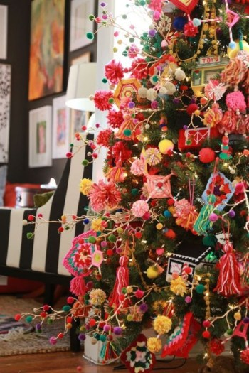 Super colorful christmas tree