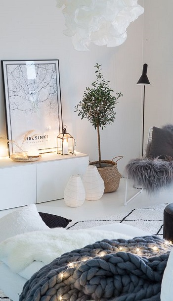 Add ambiance with fairy lights and candles Applicable Cozy Steps To Get Your Living Room Ready This Winter