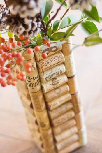 Diy wine cork vase