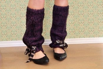 Diy fun leg warmers with ribbon