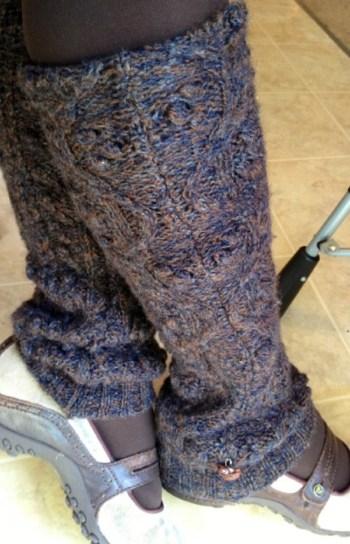 Diy old school leg warmers