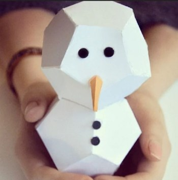 Easy crafty snowman