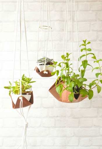 Leather planters Pleasant Indoor Garden Ideas To Cure The Winter Blues This Season