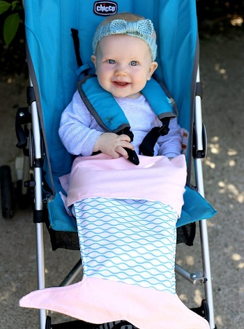 Mermaid tail stroller blanket DIY Winter Blankets To Keep Your Baby Warm Even When Go For A Walk
