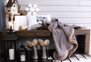 Warm porch decoration