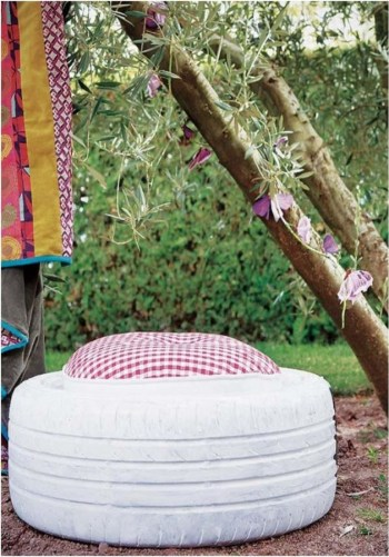 An ottoman for your backyard patio