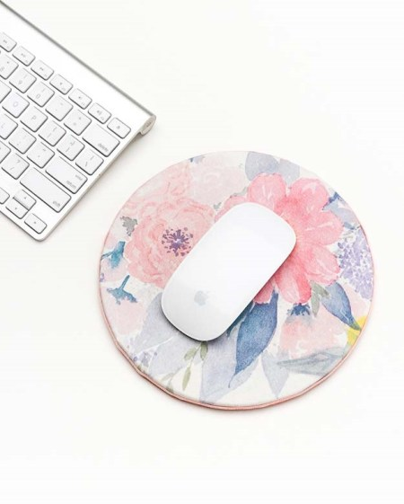 Beautiful diy floral mouse pad