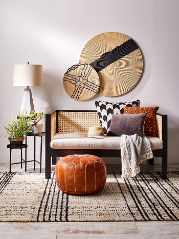 Cane love seat Brilliant DIY Caning Project To Create Your Own Furniture