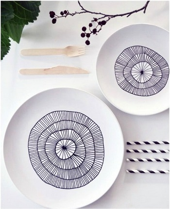 Custom porcelain plates DIY Beautiful Hand Painted Look For Your Decorative Plates